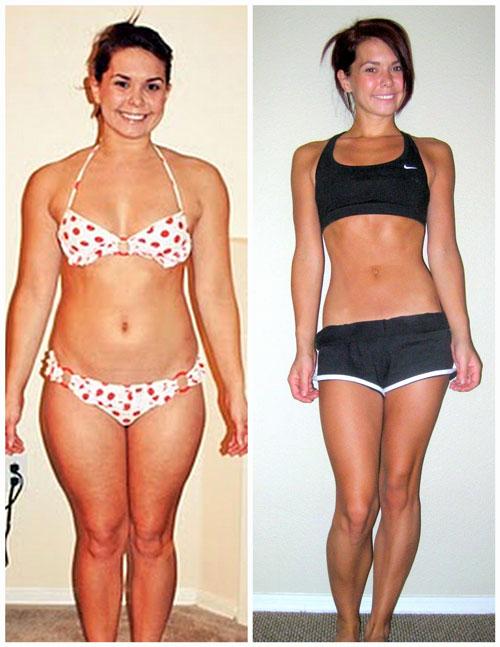 Девушка похудела на гречке